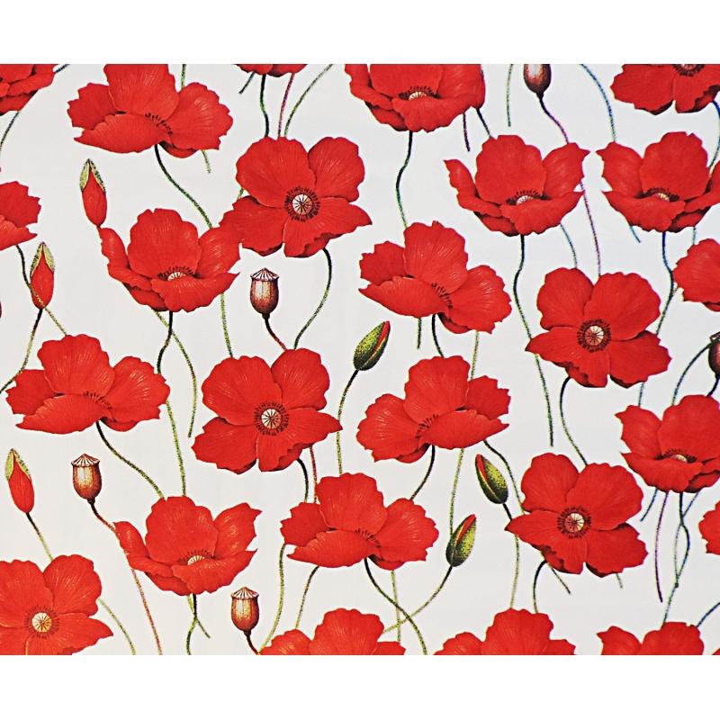 Papier d coratif rossi1931 coquelicots les papiers de lucas - Papier adhesif decoratif ...