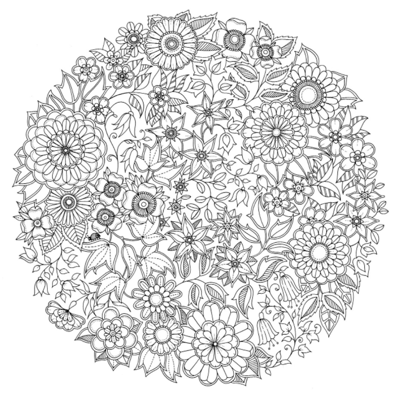 Free coloring pages of johanna basford for Dessin jardin