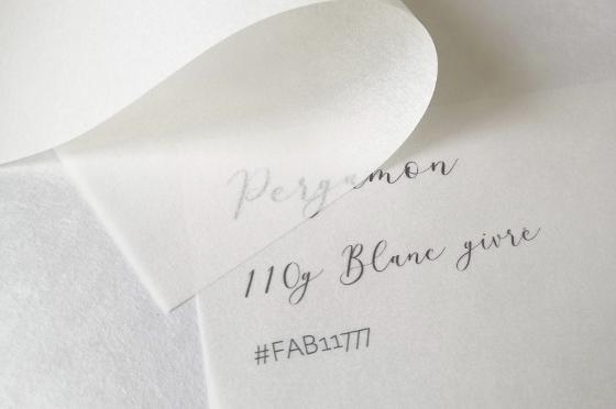 FABRIANO Pergamon 110g/m² Blanc givré