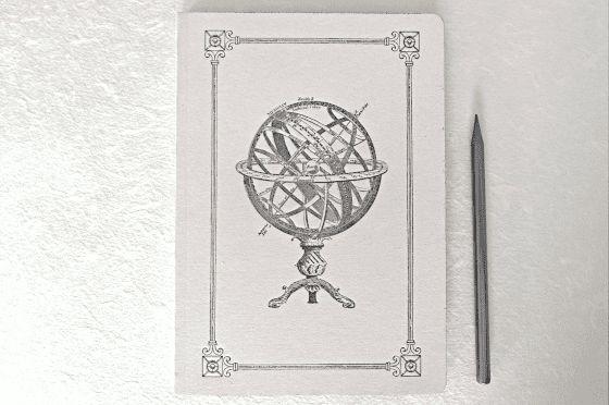 Cahier A5 Astronomie imprimé sur presse ancienne