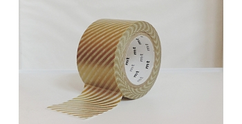 Masking tape Noël rayures or