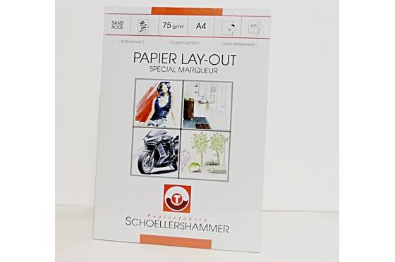 Bloc A4 layout 75g/m2 Schoellershammer©