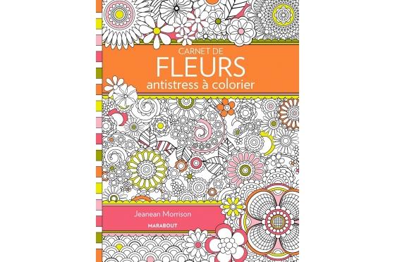 Coloriage antistress fleurs