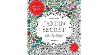Coloriage jardin secret