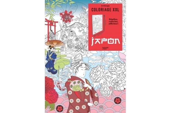 Affiche Japon XXL à colorier