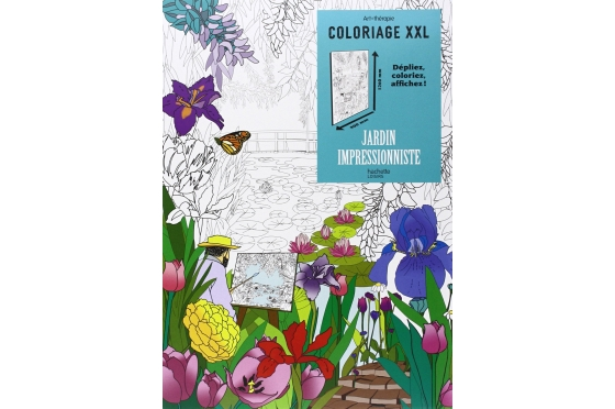 Affiche jardin des impressionistes XXL à colorier