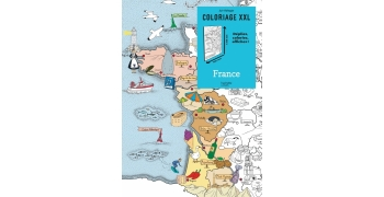 Coloriage affiche carte France