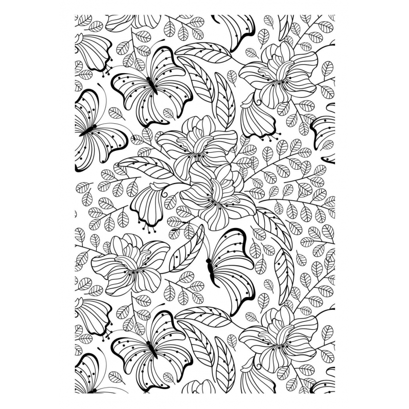 Art th rapie 100 coloriages fleurs les papiers de lucas - Coloriage therapie ...