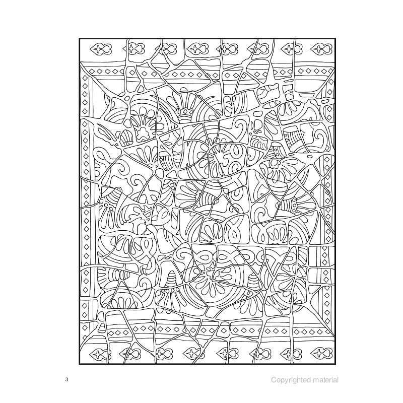 Coloriage mosaique les papiers de lucas - Coloriage therapie ...