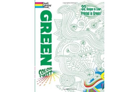 Coloriage géométrique trait vert