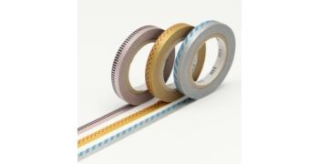 3 Masking tape fins hachurés