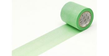 Masking Tape casa rayé vert 50mm
