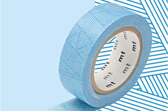 masking-tape deco© tressage bleu