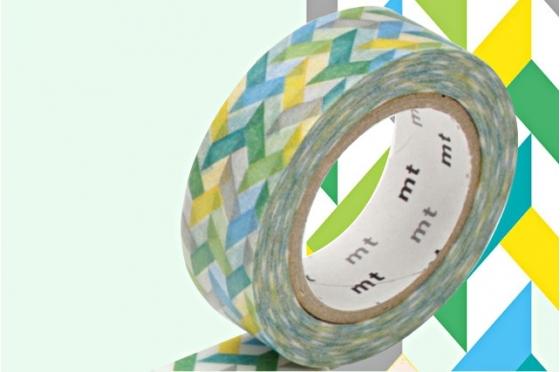 Masking Tape tressé multi vert