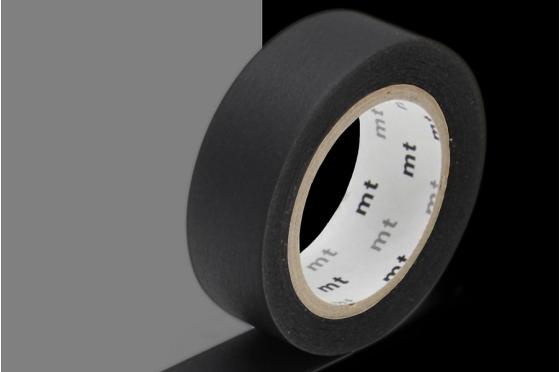 masking-tape basic noir mat