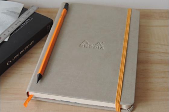 Carnet A5 beige  Rhodiarama webnotebook en molelskine