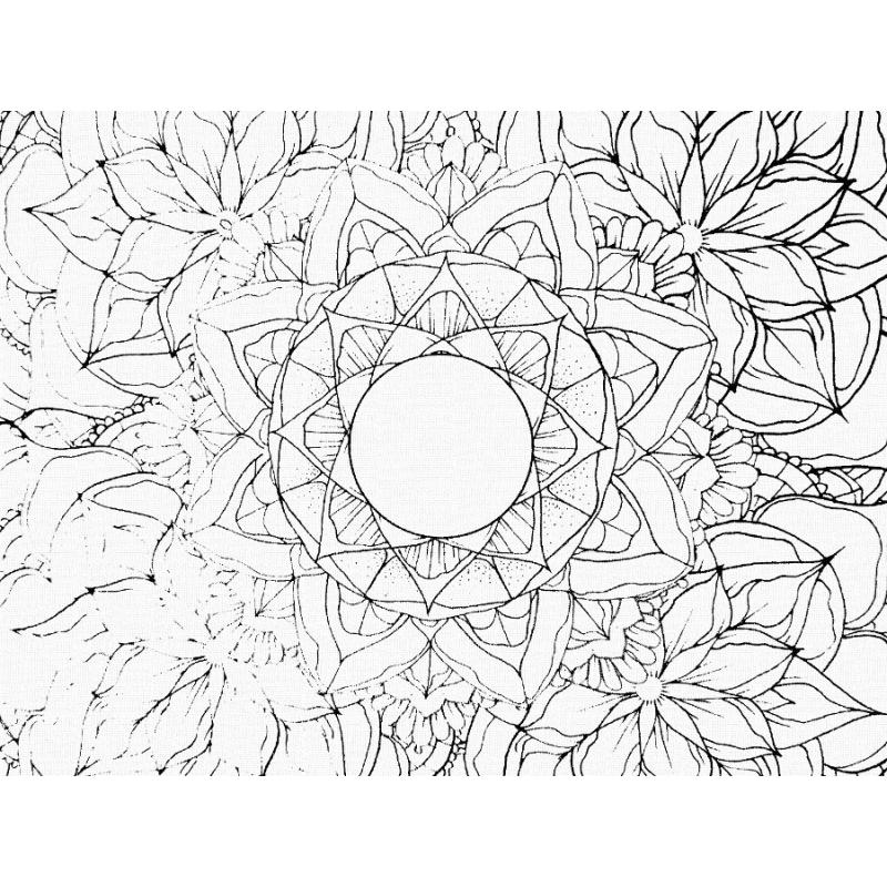 Coloriage Adulte Mandala Floral En 20 X 20cm Les Papiers