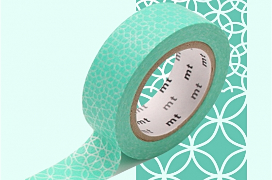 masking-tape deco© cercles verts - line pattern green