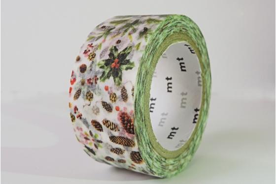 Masking Tape Christmas 2015 - Houx et pommes de pin