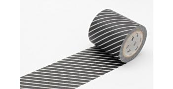 Masking Tape casa noir rayé 50 mm