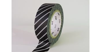 Masking Tape rayures blanches fond noir