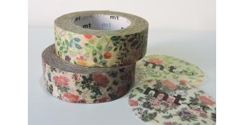 2 Masking Tape fleurs aquarelle et liberty