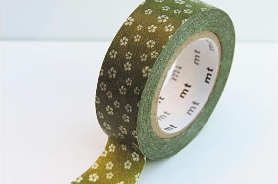 masking-tape deco© petites fleurs vert olive