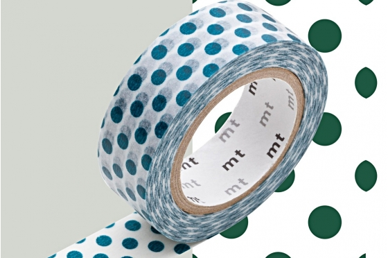 Masking tape pois vert foret