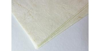 10 FEUILLES A4 - 50g -Unryu- blanc cassé