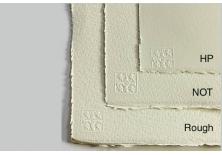 Papier aquarelle Saunders Waterford 638 g grain torchon
