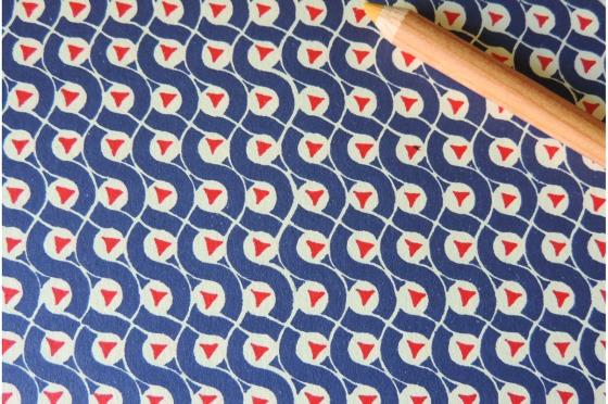 Papier florentin - triangle et cercle bleu