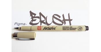 Pigma brush sepia