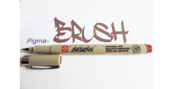 Pigma brush marron