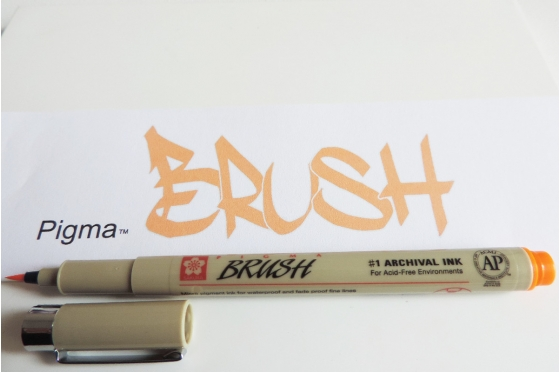 Pigma brush ORANGE