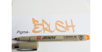 Pigma brush ORANGE