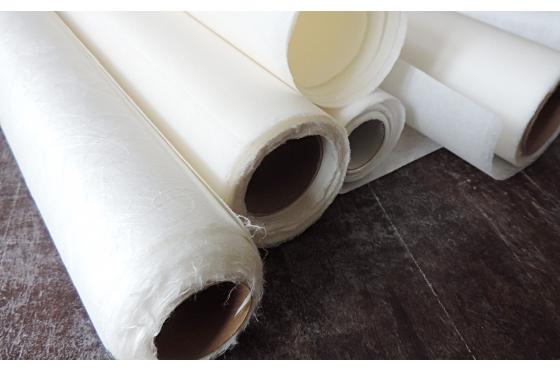 NUANCIER extrait de rouleaux de papiers japonais