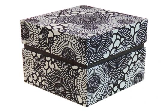 Boite carrée washi traditionnel 13,8/8,5 cm