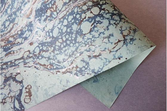 Papier marbré Oxygen Marine
