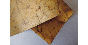 Papier Batik vieil or