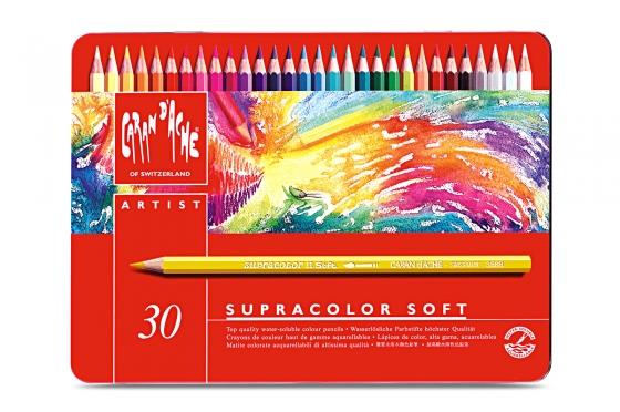 30 Crayons Supracolor® soft aquarelle coffret métal