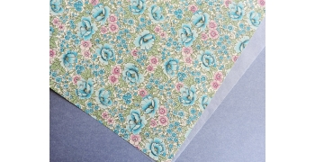 Papier florentin - fleurs de juillet bleu&rose
