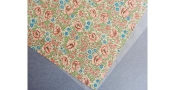Papier florentin - fleurs de juillet Bleu lilas