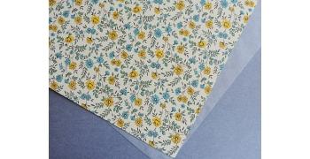 Papier florentin - liberty jaune bleu