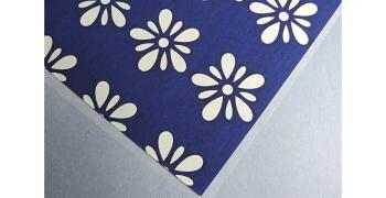 KATAZOME fleurs bleue A4