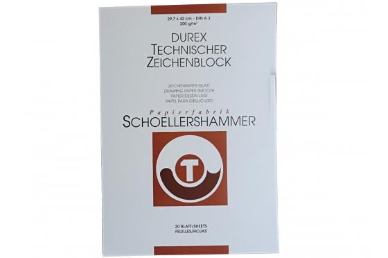 Bloc A3 Durex 200g/m² Schoellershammer©