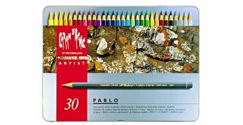 30 Crayons Pablo® coffret métal