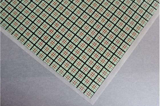 Papier Yuzen carrés rouge et noir