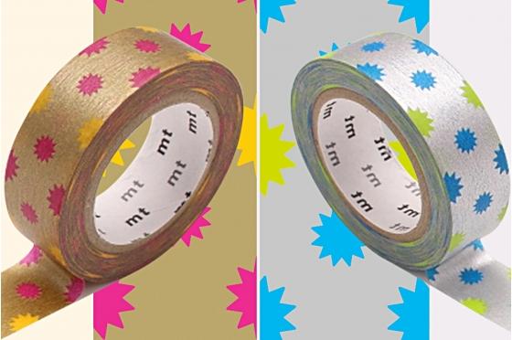 2 Masking Tape soleil or et argent
