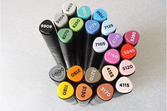 Graph'it set 24 marqueurs Basic colors