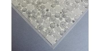 Papier Yuzen fleurs monochrome